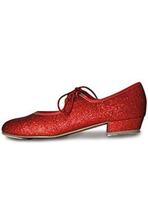 Roch Valley Dorothy - Zapatos de claqué con purpurina rosso Talla:13 UK / 32 EU