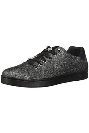 Geox Junior DjRock Girl, Zapatillas de Cordones para Niñas, (Dk Silver C1009)