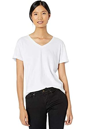 Goodthreads Washed Jersey Cotton Roll-Sleeve V-Neck T-Shirt Fashion-t-Shirts