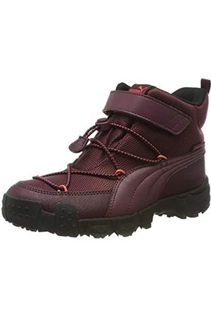 Puma Maka PURETEX V PS Zapatillas Unisex Niños, (Vineyard Wine Heather-Calypso Coral)