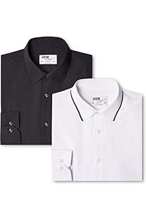 FIND Slim Fit Collar, Camisa de Oficina para Hombre, 48 (Talla del Fabricante: 15)