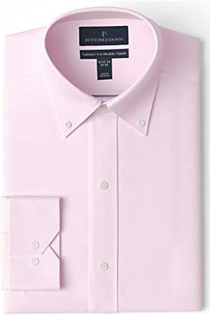 Buttoned Down Tailored Fit Button Collar Solid Non-Iron Dress Shirt Camisa