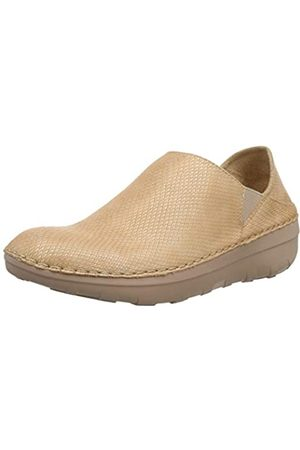 FitFlop Super Loafer-Shimmy Snake, Mocasines para Mujer, (Nude 137)