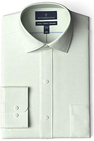 Buttoned Down Marca Amazon - Camisa de Vestir sin Planchar, Ajuste clásico, Cuello esparcido dress-shirts