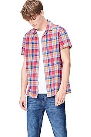 FIND Camisa de Manga Corta de Cuadros para Hombre