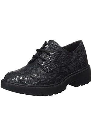 Geox J Casey M, Zapatos de Cordones Derby para Niñas, (Black)