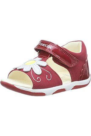 Geox B Sandal Tapuz Girl B, Sandalias para Bebés, (Red/White C0003)