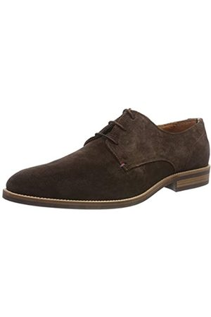 Tommy Hilfiger Essential Suede Lace Up Derby, Zapatos de Cordones Hombre, (Coffee Bean 212)