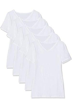 Maglev Essentials Damen T-Shirt Mit V-Ausschnitt, 5er-Pack Camiseta, Weiß), 40 (Talla del fabricante: Medium)