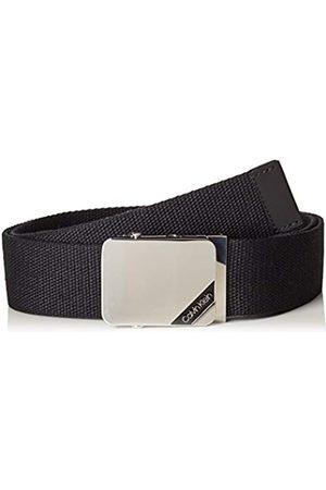 Calvin Klein 4cm Adj. Webbing Plaque Belt Cinturón