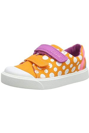 Clarks City Bright T, Zapatillas Unisex Niños, (Orange Combi Orange Combi)