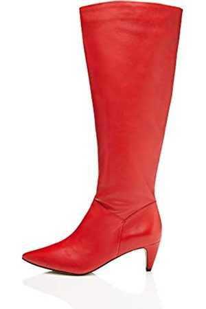 FIND Leather Botas Slouch, Red