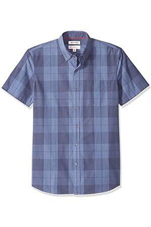 Goodthreads Marca Amazon – – Camisa de manga corta y corte estándar a cuadros grandes para hombre