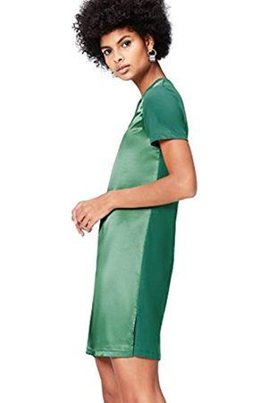 FIND Vestido de Satén Combinado vpara Mujer