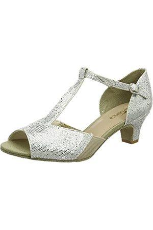 So Danca Bl33, Zapatillas de Baila Moderno y Jazz Mujer, (Silver)