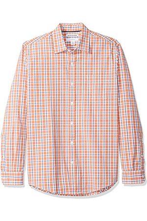 Amazon Camisa informal de popelín de manga larga de corte entallado para hombre