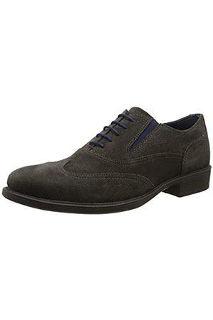 Geox Uomo Carnaby H, Zapatos de Cordones Oxford para Hombre, (Mud)