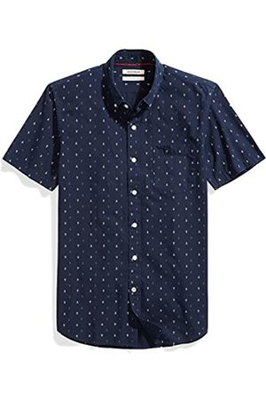 Goodthreads Slim-fit Short-Sleeve Anchor-Print Shirt Camisa abotonada, (Navy)