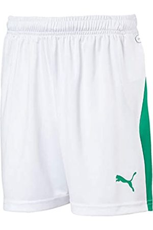 Puma Liga FTB Jr Pantalones Cortos, Unisex Niños, ( ( ( ( (White/Pepper Green)