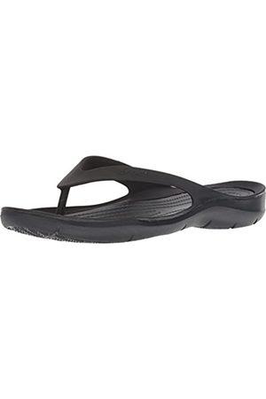 Crocs Swiftwater Flip Women, Zapatos de Playa y Piscina para Mujer, (Black/Black 060)