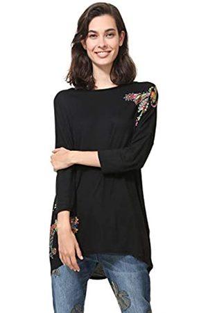 Desigual T-Shirt 3/4 Sleeve NAI Woman Black Camiseta, 2000