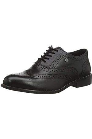 Hush Puppies Natalie, Zapatos de Cordones Brogue para Mujer, (Black Black)