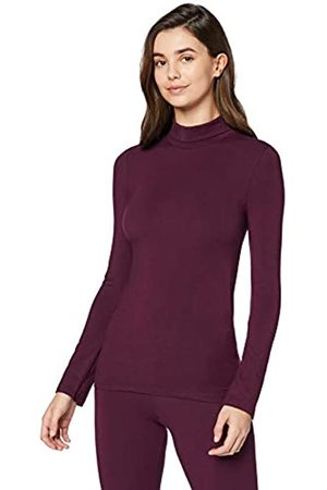 IRIS & LILLY Camiseta Interior Térmica Ligera con Cuello Alto para Mujer