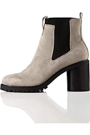 FIND Chunky Sole Botas Chelsea, Grau Grey