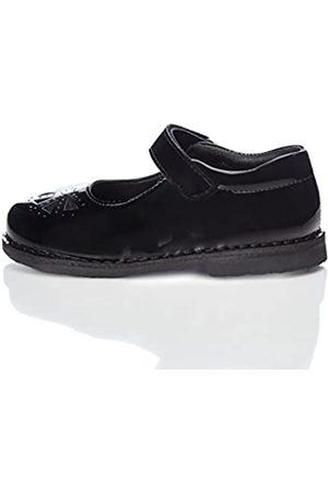 RED WAGON Zapato Calado con Tira de Velcro para Niña, (Black)