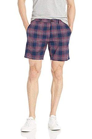 Goodthreads – Pantalón corto de lino elástico con tiro de 17,78 cm para hombre