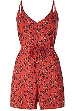 O'Neill LW Anisa Strappy Playsuit Corto para Mujer, Red AOP w/Black