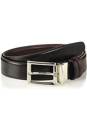 Brooks Brothers Cintura in Pelle Fibia Argento Cinturón
