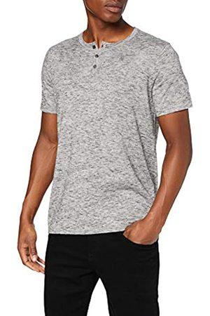 FIND Hombre Polos - Marca Amazon - C16-461S Camisetas de Hombre, (Grey Spacedye (B1by08)