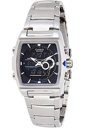 Casio EDIFICE Reloj en caja sólida, 10 BAR, Negro, para Hombre, con Correa de Acero inoxidable