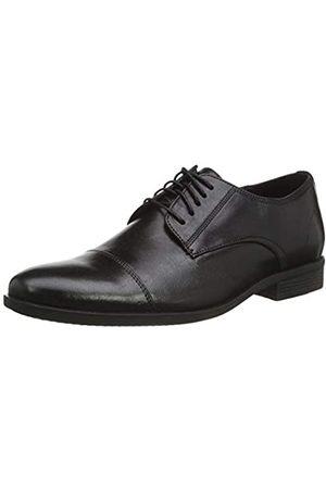 Hush Puppies Ollie, Zapatos de Cordones Derby para Hombre, Black