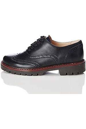 RED WAGON Zapatos de Cordones Estilo Óxford para Niño, (Black)