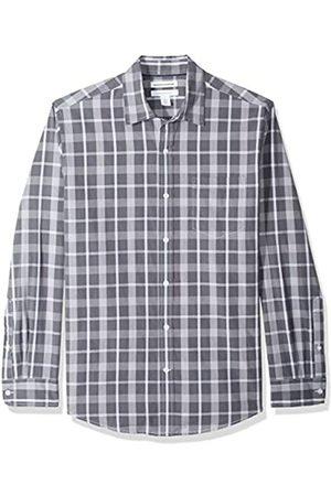 Amazon – Camisa informal de popelín de manga larga de corte recto estándar para hombre