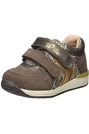 Geox B Rishon Girl B, Zapatillas para Bebés, (Smoke Grey)