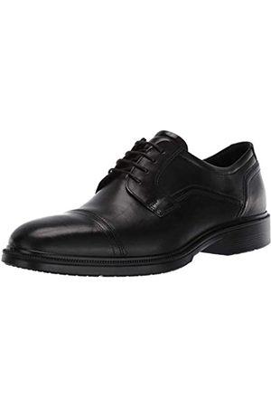 Ecco Lisbon, Zapatos de Cordones Derby para Hombre, (Black 1001)