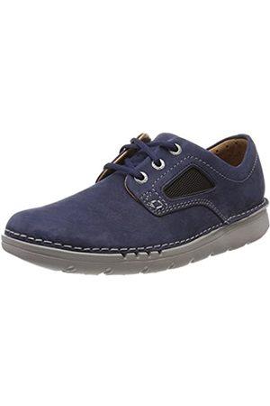 Clarks Unnature Plain, Zapatos de Cordones Derby para Hombre, (Navy Nubuck)