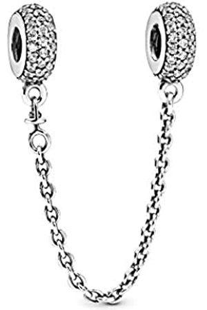 PANDORA Cadena de Mujer con Colgante de Ley 925 circonita Blanco 5 cm – 791736 CZ de 05