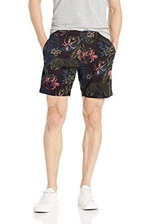 Goodthreads – Pantalón corto de lino elástico con tiro de 17,78 cm para hombre, Dark Palm