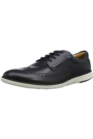 Clarks Helston Limit, Zapatos de Cordones Derby para Hombre, (Navy Leather Navy Leather)
