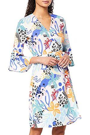 FIND Marca Amazon - Mujer Vestido Corto Cruzado de Flores