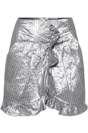 Isabel Marant Exclusivo en Mytheresa – minifalda Mucius metalizada a rayas