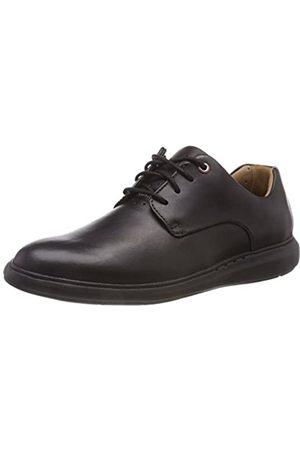 Clarks Un Voyageplain, Zapatos de Cordones Derby para Hombre, (Black Leather)