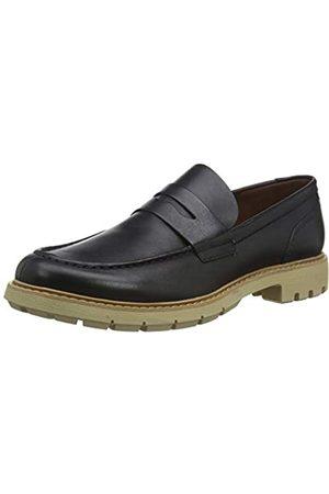 Clarks Batcombe Edge, Zapatos de Cordones Derby para Hombre, (Navy Leather Navy Leather)