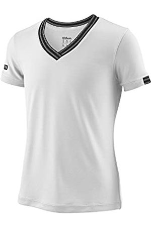 Wilson Camiseta deportiva con cuello en V para niña, G Team V-Neck, Poliéster, Talla: M