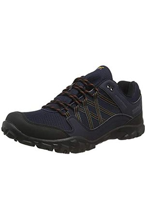 Regatta Edgepoint III' Waterproof Walking Shoes, Zapatillas de Senderismo para Hombre, (Navy/Burnt Umbre Qfd)