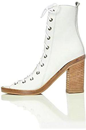 FIND Sandalias de Tacón con Cordones para Mujer, (White)